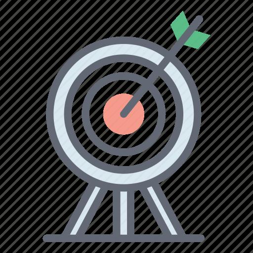 aim, archery, goal, objective, target board icon
