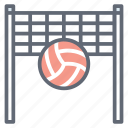 game, goal net, playbill, sports, sports ball, volleyball net icon