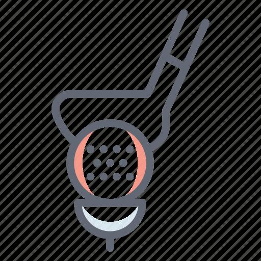 golf, golf stick, golf tea, outdoor game, sports accessory, sports equipment icon