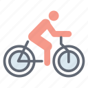 bicycle race, cycle rider, cycling, cyclist, sports cycle icon