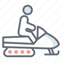 ice ride, ice sleigh, sledding, snow mobile, snow sleigh, toboggan icon