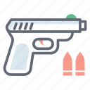 gun, handgun, hunting gun, pistol, shooting gun, weapon icon