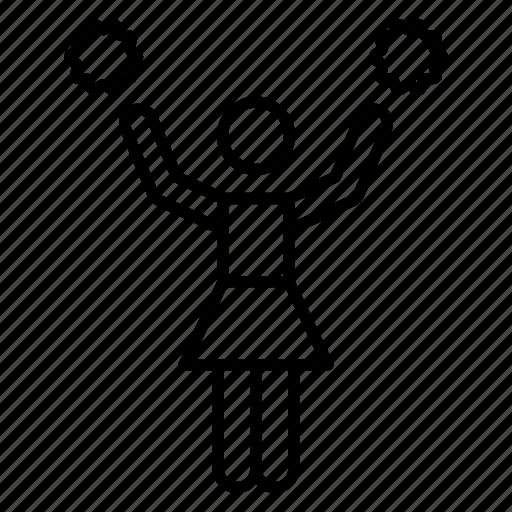 cheer jumps, cheerer, cheerleader, cheerleading avatar, supporter icon