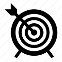target, arrow, dartboard