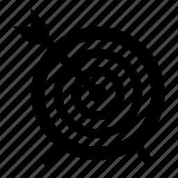arrow, dartboard, target icon