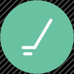 game, golf stick, hockey, hockey stick, sports, sports accessories icon