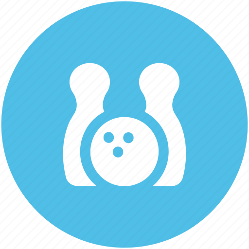 alley pins, bowling ball, bowling game, bowling pins, game, hitting pins, sports icon