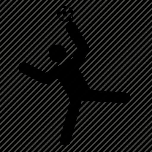 ball, handball, player, sport, sports icon