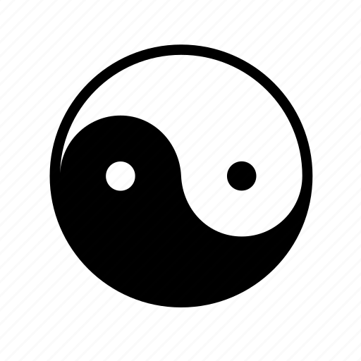 china, chinese, sign, yin and yang, yin yang, yin-yang icon