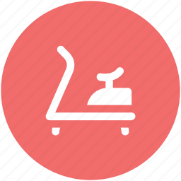 exercise, fitness, gym, gym equipment, jogging machine, running machine, treadmill icon