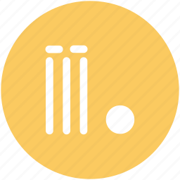 bails, cricket, cricket ball, cricket wicket, stump wicket, wicket ball icon