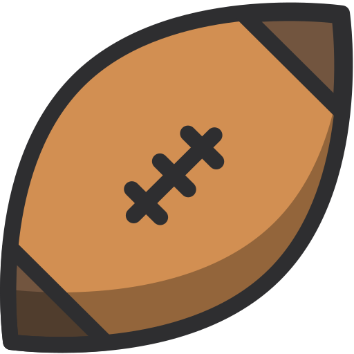 american football, ball, rugby, sport, sportive, sports ball icon