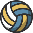 ball, equipment, gym, sport, training, volleyball icon