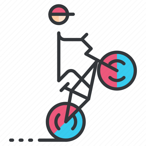 bmx, cycling, sports icon