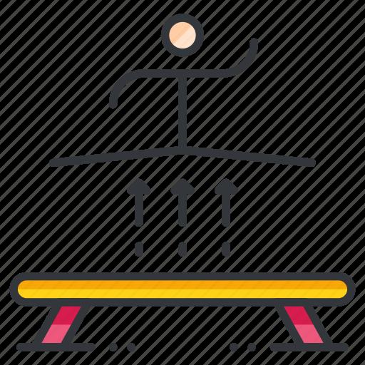 balance, beam, gymnastics, olympics, sports icon