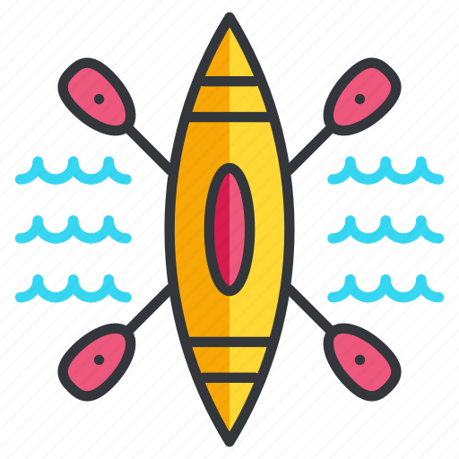 canoe, canoeing, sports icon