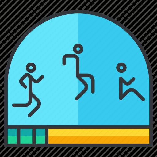 jump, long, olympics, sports icon