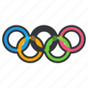 olympics, rings, sports icon