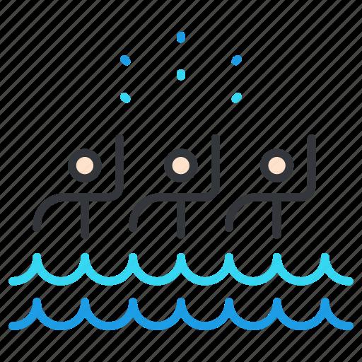 olympics, sports, swimming, synchronized icon