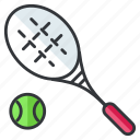 ball, racket, sports, tennis