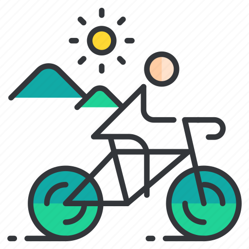 Bicycle, cycling, sports, terrain icon - Download on Iconfinder