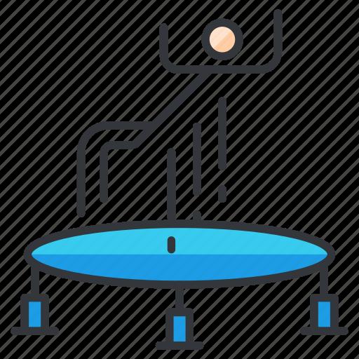 gymnastics, sports, trampoline icon