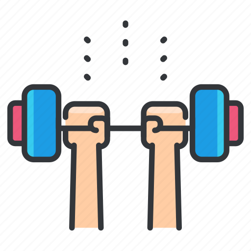 exercise, gym, lifting, weight icon