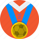 football, medal, mintie, shirt, soccer icon
