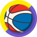 ball, basket, color, mintie icon