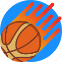 basket ball, basketball, flaming, mintie, sport icon