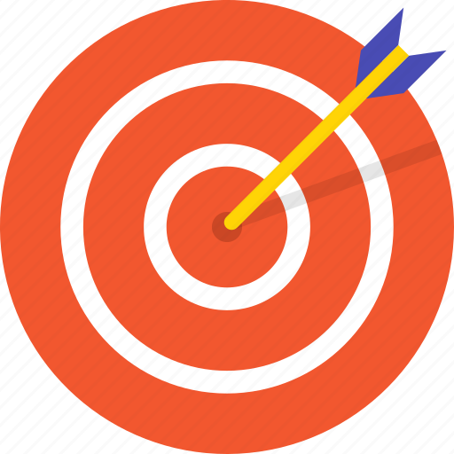archery, arrow, board, mintie, sport icon