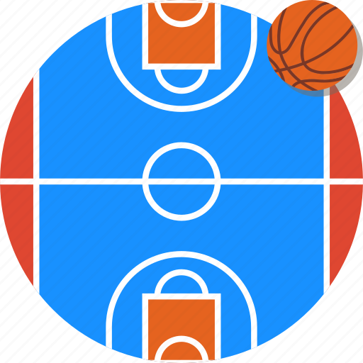 basket ball, basketball, court, mintie icon
