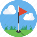 drive, flag, golf, mintie, putt, sport icon