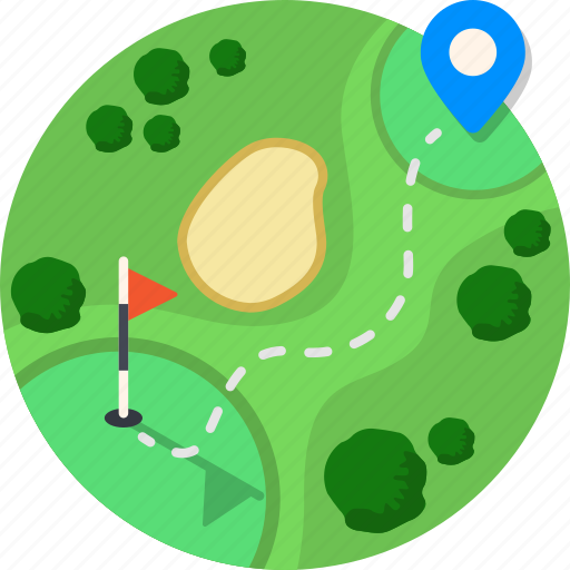 course, drive, golf, mintie, sport, tee icon