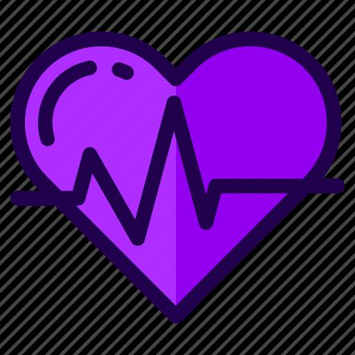 fitness, health, heart, heartbeat, love, romance, sports icon