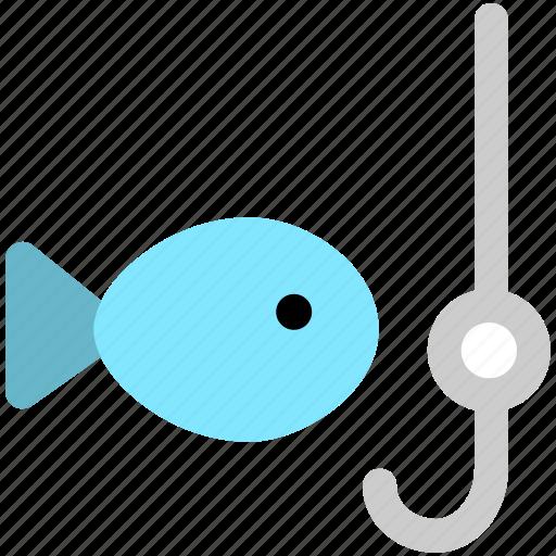 fish, fishing, food icon