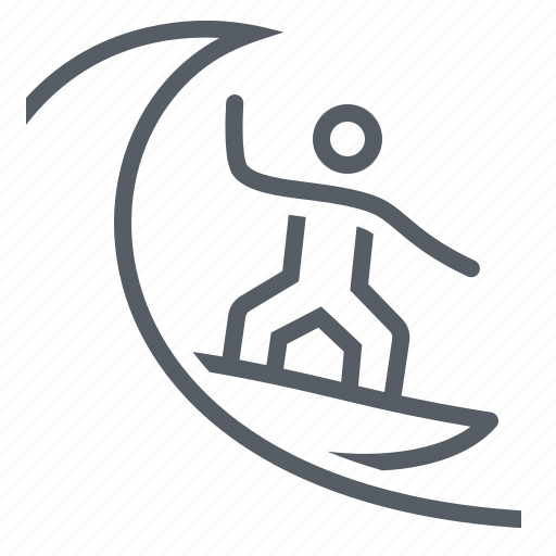 people, sport, surfing, water, wave icon