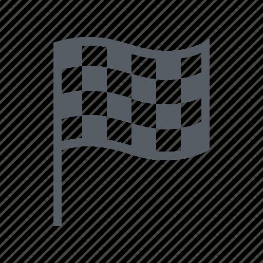 checkered, finish, flag, sport icon