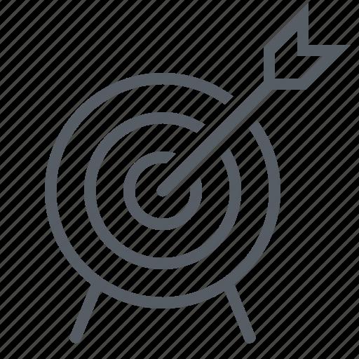 arrow, bullseye, sport, target icon