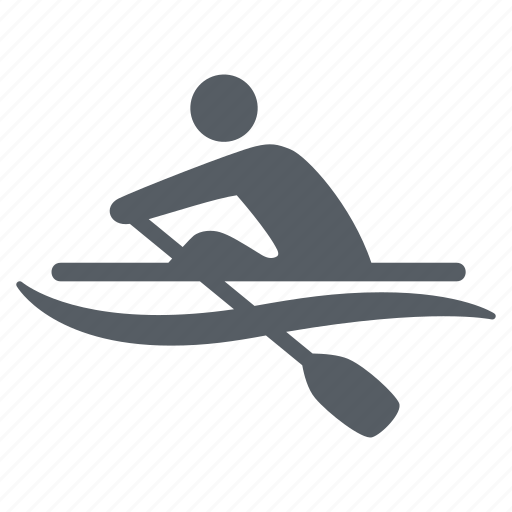 people, rowing, sport, water icon
