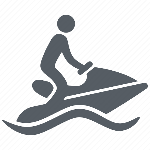 jetski, people, scooter, sport, water icon
