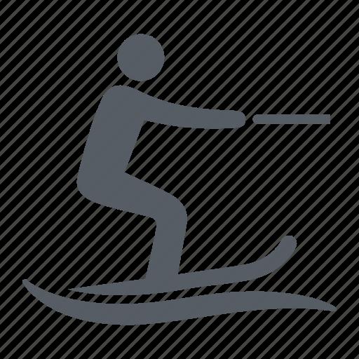 people, ski, skiing, sport, water icon