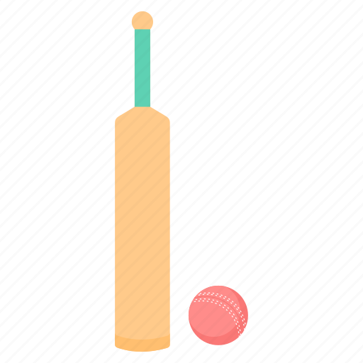 ball, bat, cricket, game, sports icon