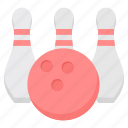 bowl, bowling, casino, play, sports icon