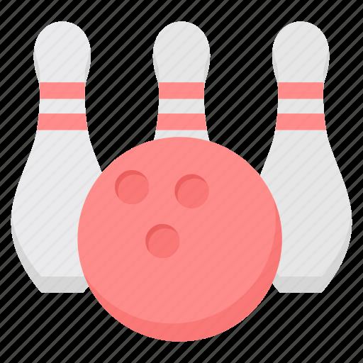 bowl, bowling, casino, play, sports icon