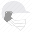 acessories, cricket, game, head, helmet, security icon
