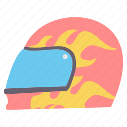 helmet, security icon