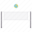 ground, net, play, stadium, volleyball icon
