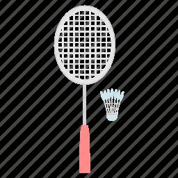 badminton, game, shuttle, shuttlecock, sports icon