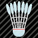 shuttle, shuttlecock, sports icon